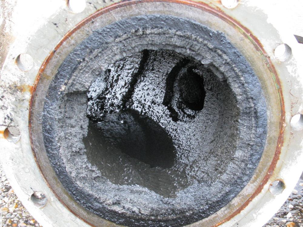 Abwasserleitung verstopft durch kalk und ablagerungen for Abwasserleitung verstopft