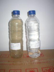 Braunes Wasser - Vorher, Nachher Test