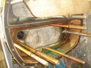 Evaporatorgehäuse nach 8 Monaten